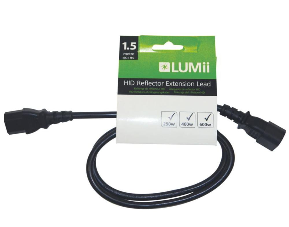 IEC TO IEC GROW LIGHT REFLECTOR EXTENSION LEAD 5M